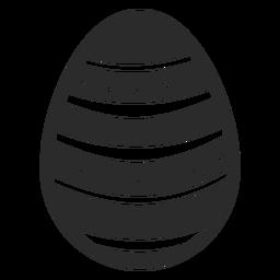 Huevo de Pascua pintado huevo de Pascua punto raya huevo de Pascua patrón silueta