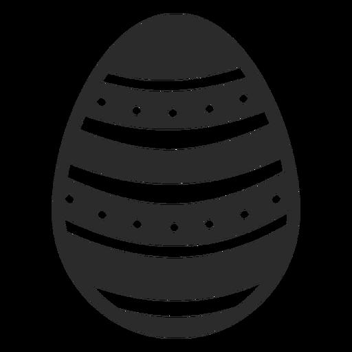 Huevo de Pascua pintado huevo de Pascua punto raya huevo de Pascua patrón silueta Transparent PNG