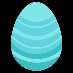 Ei Ostern gemaltes Osterei-Streifen-Ostereimuster flach