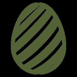 Ei Ostern gemaltes Osterei-Streifen-Ostereimusterschattenbild