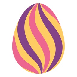 Egg easter stripe painted easter egg easter egg pattern flat