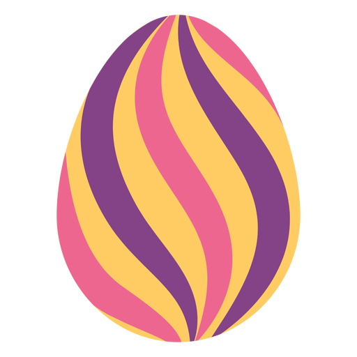 Egg easter stripe painted easter egg easter egg pattern flat Transparent PNG