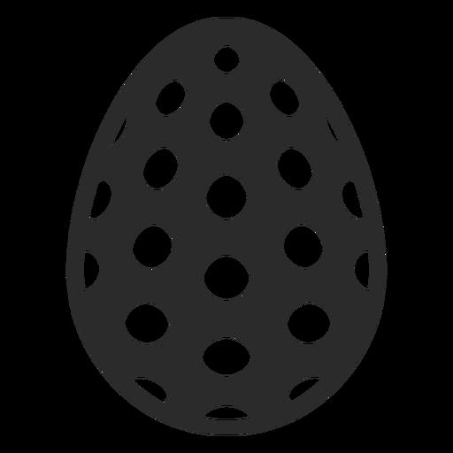 Egg spot easter painted easter egg easter egg pattern silhouette Transparent PNG