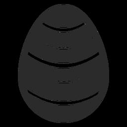 Huevo raya Pascua pintada huevo de Pascua huevo de Pascua patrón silueta