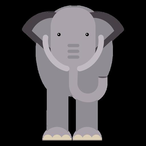 Tronco de marfim de orelha de elefante plana Geométrico arredondado Transparent PNG