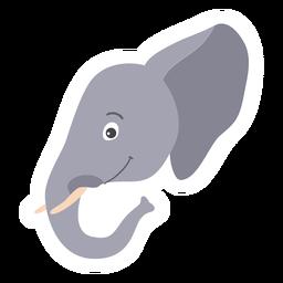 Etiqueta plana do focinho principal do marfim da orelha de elefante