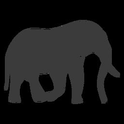 Silhueta de cauda de tronco de marfim de orelha de elefante