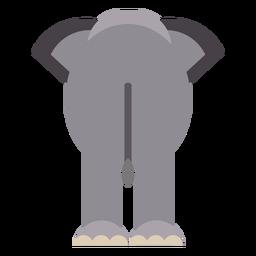 Oreja de elefante cola plana redondeada geométrica