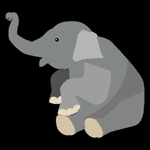 Oreja elefante tronco plano Transparent PNG