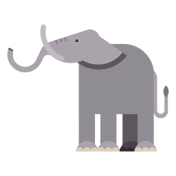 Elefant Elfenbein Ohr Rumpf flach abgerundet geometrisch