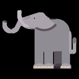 Elefant Elfenbein Ohr Rumpf Schwanz flach Abgerundet geometrisch