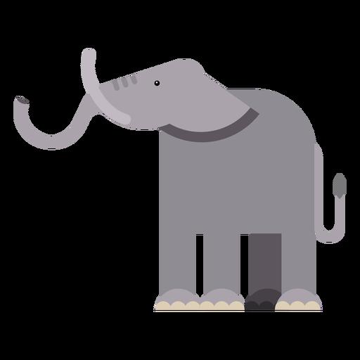 Elefant Elfenbein Ohr Rumpf flach abgerundet geometrisch Transparent PNG