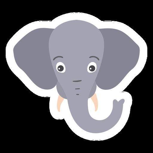 Elephant trunk ear ivory head muzzle flat sticker