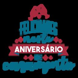 Felisidsdes neste aniversário de casamento texto em português fita de vidro adesivo coração