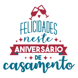 Felisidsdes neste aniversario de casamento texto en portugués cinta vidrio corazón pegatina