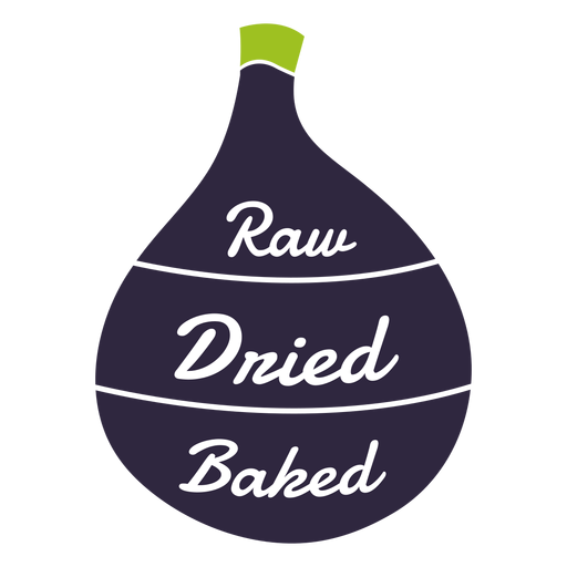 Fig raw dried baked flat Transparent PNG
