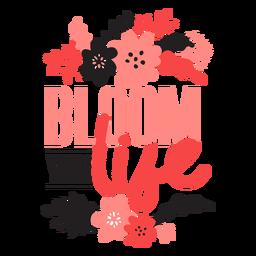 Flor florece tu vida brote pétalo tallo hoja plana