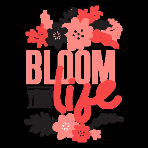 Flower bloom your life bud petal stem leaf flat Transparent PNG