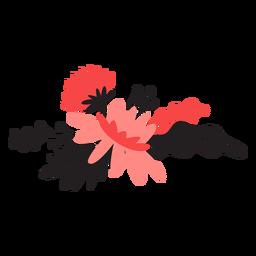 Blütenblatt-Stammblatt der Blume bouqet Knospe flach