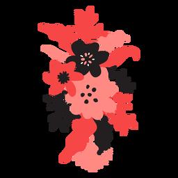 Flor bouqet bud haste pétala de folha plana