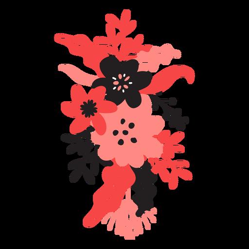 Blütenknospenstammblatt-Blütenblatt der Blume bouqet flach Transparent PNG