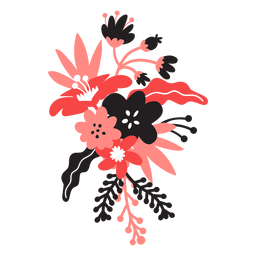 Flor bouqet bud caule pétala folha plana