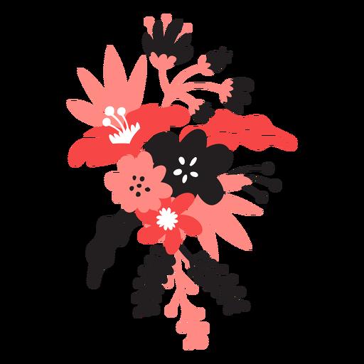Flower bouqet bud stem petal leaf flat Transparent PNG