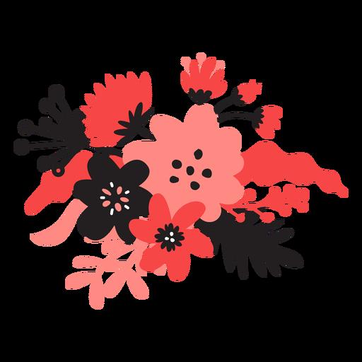 Flower bouqet stem bud petal leaf flat Transparent PNG