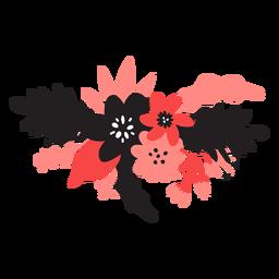 Blütenstaub-Blütenblatt der Blumen bouqet Stammknospe flach