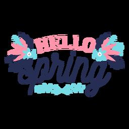 Flor brote hola primavera pétalo tallo hoja plana