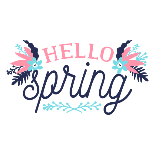 Flor brote hola primavera pétalo tallo hoja plana Transparent PNG