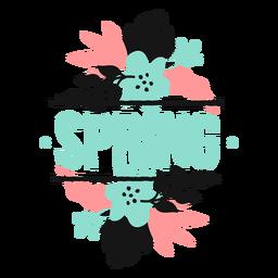 Flor brote pétalo primavera tallo hoja plana