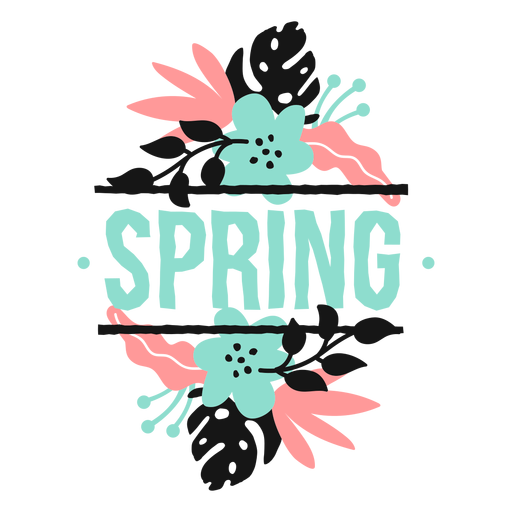 Flor brote pétalo primavera tallo hoja plana Transparent PNG