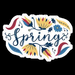 Flor brote pétalo tallo primavera hoja plana