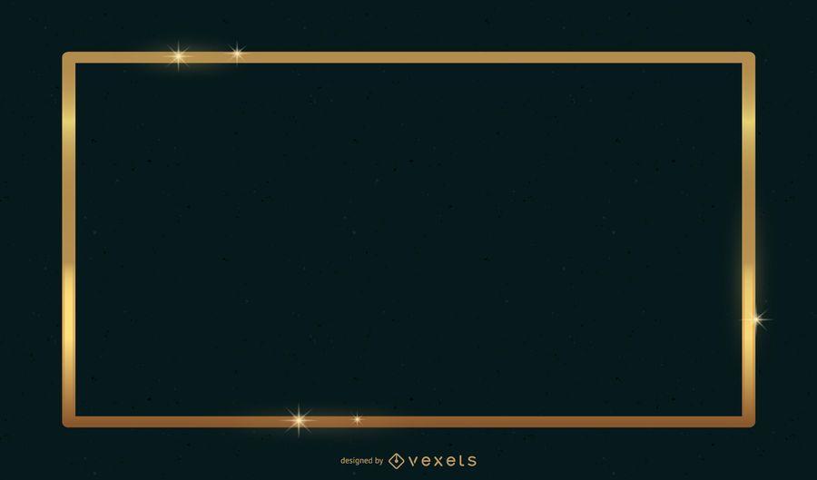 Goldener Rahmen für Text über grünem Hintergrund
