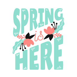 Flor broto primavera é aqui pétala caule folha plana