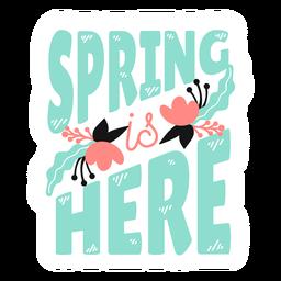 Flor de primavera brote es aquí pétalo tallo hoja plana