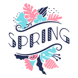 Brote de flor primavera pétalo tallo hoja plana