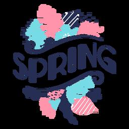 Flor de botão Primavera pétala haste folha plana