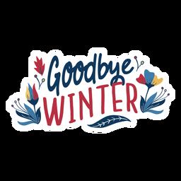 Blume Auf Wiedersehen Winterknospenblumenblatt-Stammfrühlingsblatt flach