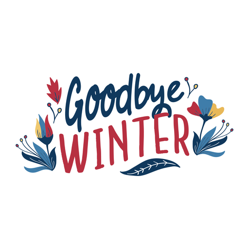 Flower goodbye winter bud petal stem spring leaf flat Transparent PNG
