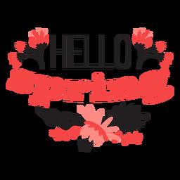 Flor hola brote primavera pétalo tallo hoja plana