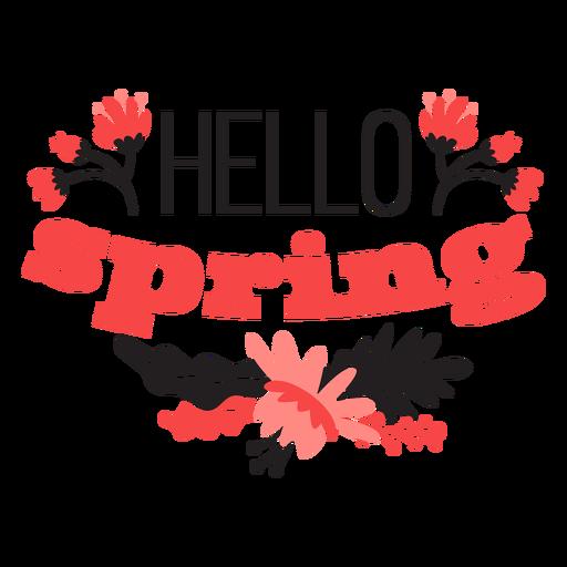 Flower hello spring bud petal stem leaf flat Transparent PNG