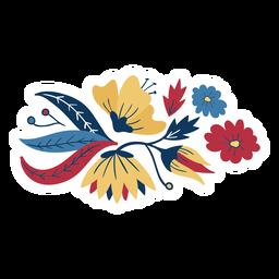 Blütenblattknospenstamm-Blütenblatt flach
