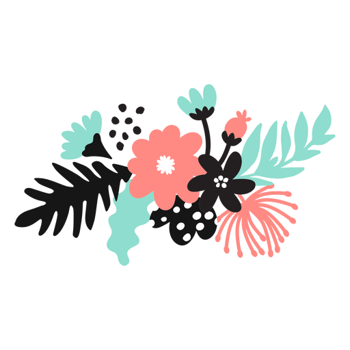 Flor pétala bud pólen folha haste plana Transparent PNG