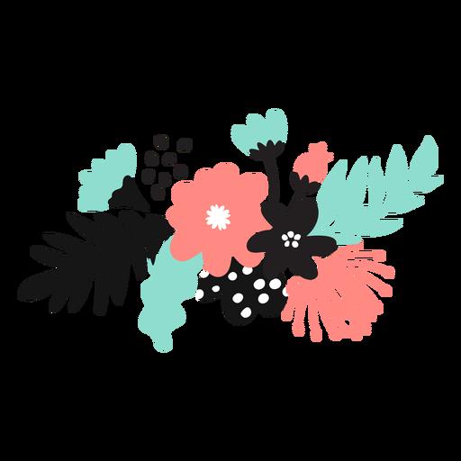 Flor pétalo brote polen hoja tallo plano Transparent PNG