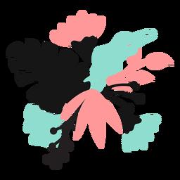 Blütenblattknospenstammblatt flach