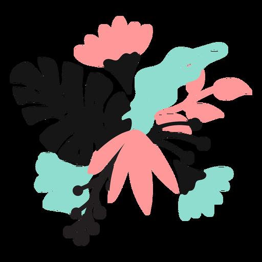 Flower petal bud stem leaf flat Transparent PNG
