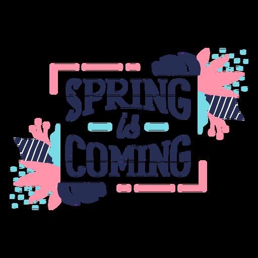 Flower spring is coming bud petal stem leaf flat Transparent PNG