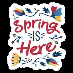 Flor de primavera es aquí brote pétalo tallo hoja plana